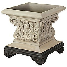 image of Bombay® Outdoor Corinthian Planter in Limestone Finish