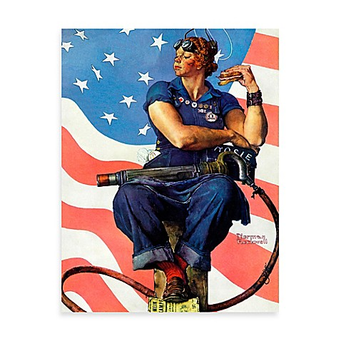 norman rockwell rosie the riveter canvas wall art bed bath beyond. Black Bedroom Furniture Sets. Home Design Ideas