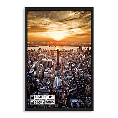 Buy GO BIG 24-Inch x 36-Inch Poster Frame in Black from ...