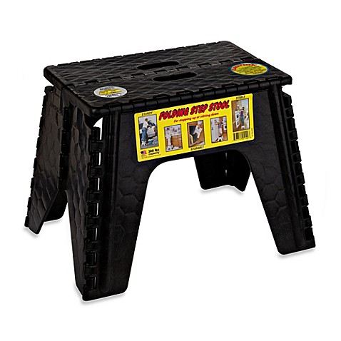 Buy Ez Foldz 12 Inch Folding Step Stool In Black From Bed