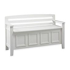 image of laredo storage bench in white