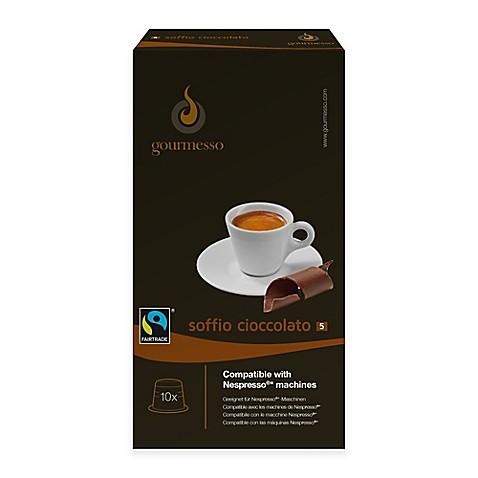 gourmesso 10 count chocolate soffio cioccolato nespresso compatible espresso capsules bed. Black Bedroom Furniture Sets. Home Design Ideas