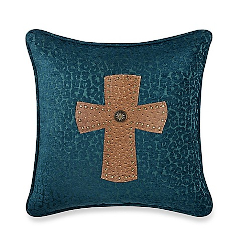 Decorative Pillows With Crosses : HiEnd Accents Studded Cross Alamosa Square Throw Pillow - Bed Bath & Beyond