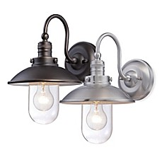 image of Minka Lavery® Downtown Edison 1-Light Wall-Mount Outdoor Light