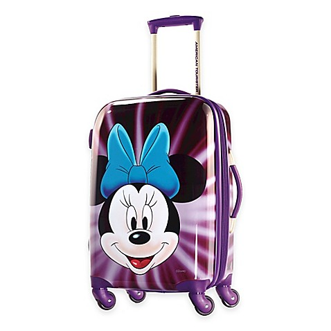 Buy Disney Minnie Face 21 Inch 4 Wheel Carry On Spinner Suitcase From American Tourister From