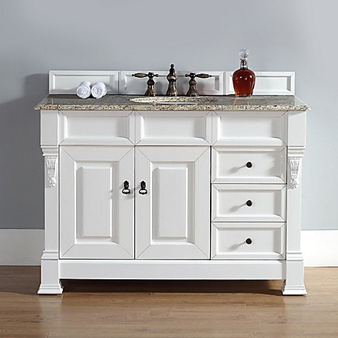 James Martin Furniture Brookfield 48-Inch Single Vanity with Drawers in Cottage White