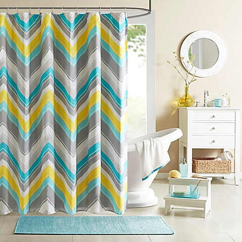 Intelligent design elise shower curtain bed bath beyond - Intelligent shower ...