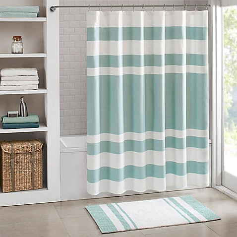 Image Of Madison Park Spa Waffle Shower Curtain