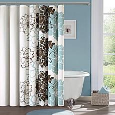Image Of Madison Park Lola Cotton Shower Curtain