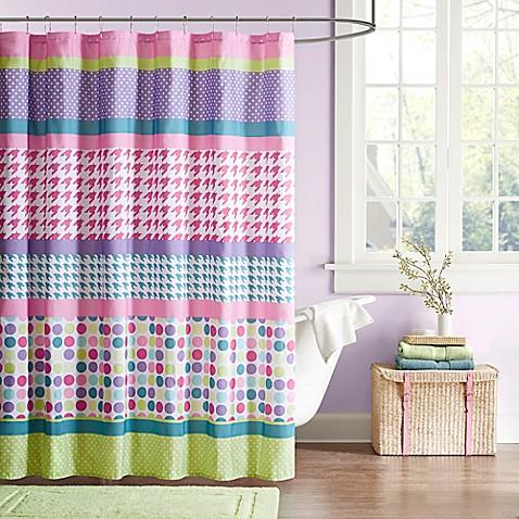 Amazing Image Of Mi Zone Katie Microfiber Shower Curtain