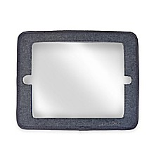 image of JJ Cole® 2-in-1 Headrest Car Back Seat Mirror with Grey Heather Frame