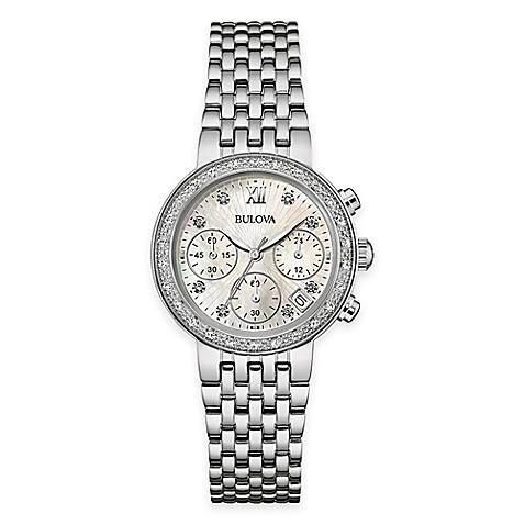 Diamond Encrusted Bulova Watch