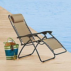 Chaise lounges bed bath beyond for Anti gravity chaise