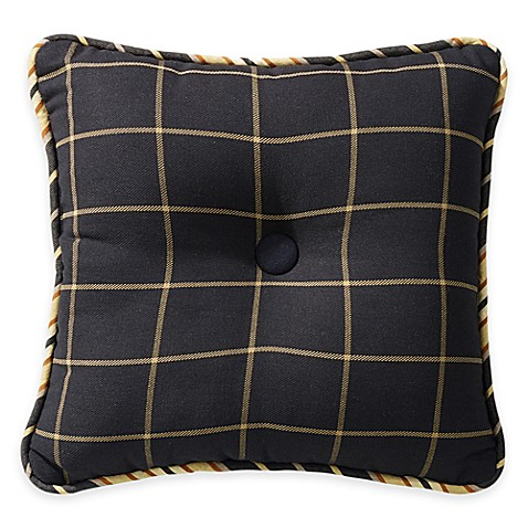 Buy HiEnd Accents Windowpane Tufted Square Throw Pillow from Bed Bath & Beyond