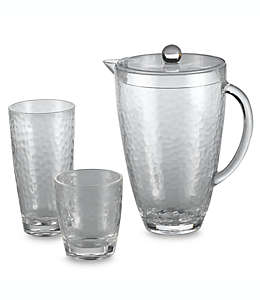 Vaso de acrílico martillado de acrílico transparente de 384.45 mL