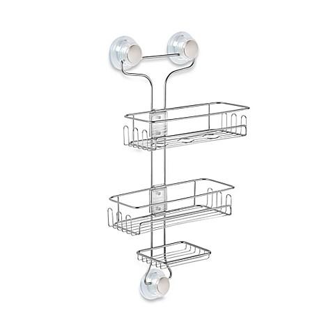 Interdesign Turn N Lock 3 Tier Suction Shower Caddy Bed