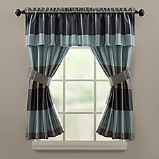 Croscill® Fairfax 45 Inch Bath Window Curtain Panel In Slate (Set Of 2