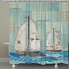 image of Laural Home® At the Regatta Shower Curtain