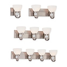 Minka Lavery® Hudson Bay Wall Mount Bath Fixture In Brushed Nickel With  Glass Shade