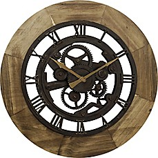 FirsTime® Gear Wall Clock In Bronze
