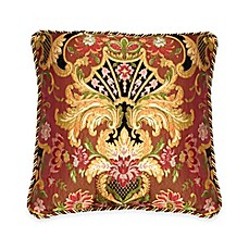 image of Austin Horn Classics Ashley Square Throw Pillow in Coral/Gold