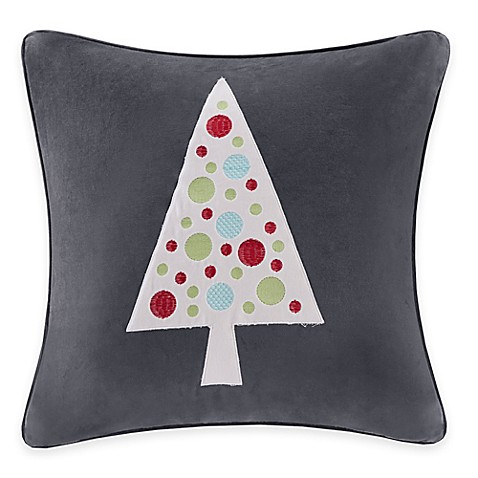 Buy Madison Park Novelty Tree Velvet Square Throw Pillow from Bed Bath & Beyond