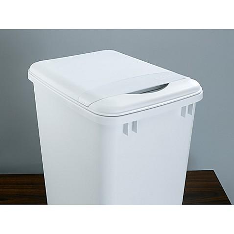 rev a shelf white waste container lid bed bath beyond. Black Bedroom Furniture Sets. Home Design Ideas
