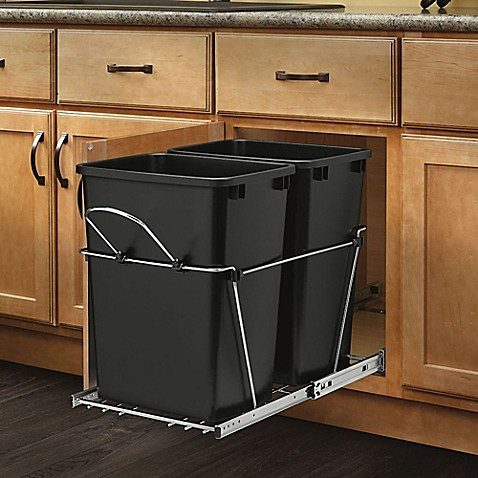 Rev A Shelf Rv 18kd 18c S Double 35 Qt Pull Out Black