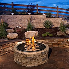 image of Sun Joe® Fire Joe Wood Burning 35-Inch Cast Stone Fire Pit