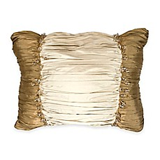 image of Austin Horn Classics Casablanca Ruched Beaded Oblong Throw Pillow in Gold