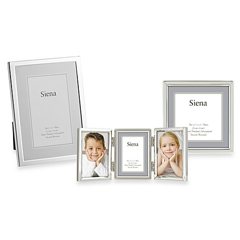 Siena Silver Plated Narrow Plain Picture Frames Bed Bath Beyond