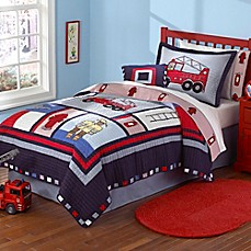 image of Fireman Quilt Set