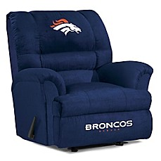image of NFL Denver Broncos Microfiber Big Daddy Recliner