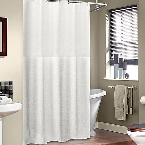 Buy Soho 72 Inch X 75 Inch Linen Shower Curtain In White From Bed Bath