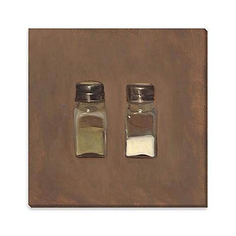 salt and pepper canvas wall art bed bath beyond. Black Bedroom Furniture Sets. Home Design Ideas