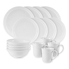 image of Fitz and Floyd® Pebble 16-Piece Dinnerware Set in White