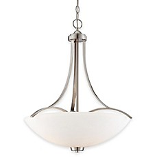 image of Minka Lavery® Overland Park 3-Light Pendant in Brushed Nickel with Opal Etched Glass Shade