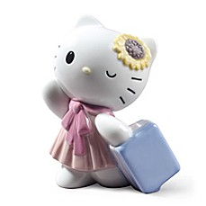 image of Nao® Traveling with Hello Kitty Porcelain Figurine