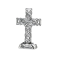 image of Galway Crystal 10-Inch Celtic Cross