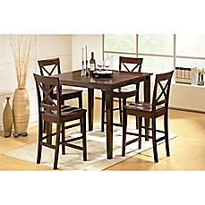 image of Steve Silver Co. Cobalt 5-Piece Counter Height Dining Set in Espresso