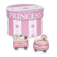 image of Mud Pie® First Tooth/Curl of the Princess Treasure Box