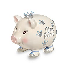 image of Mud Pie® Giant Little Prince Piggy Bank