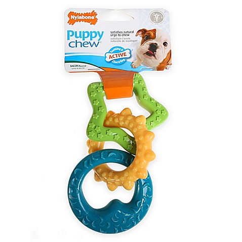 Nylabone 174 Puppy Chew 174 2 Pack Puppy Teething Rings Bed