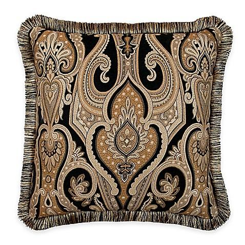 austin horn classics alexandria medallion square throw pillow in black gold bed bath beyond. Black Bedroom Furniture Sets. Home Design Ideas