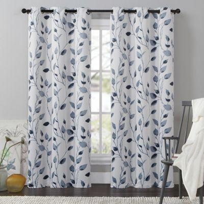 Vcny Leaf Window Curtain Panel Bed Bath Amp Beyond