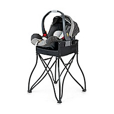 image of Phoenix Baby GoTo™ 2-in-1 Infant Car Seat Station and Travel High Chair in Black