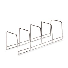 Better Houseware 4-Section Plate Rack in Chrome  sc 1 st  Bed Bath u0026 Beyond & vertical plate rack | Bed Bath u0026 Beyond