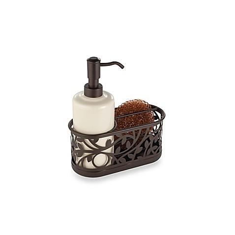 Interdesign Vine Kitchen Sink Soap Dispenser Pump And Sponge Caddy In Bronze Bed Bath Beyond