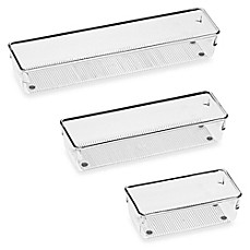 image of InterDesign® Linus Acrylic  Drawer Organizers
