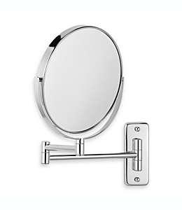 Espejo para pared Jerdon®, con aumento 8X/1X en cromo